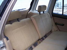 REAR SEAT IS VERY MUCH ALIKE THAT IN THE FIT TOO