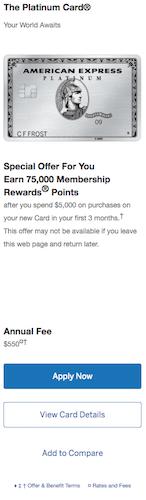 While waiting for 100k Platinum Card offer      - FlyerTalk