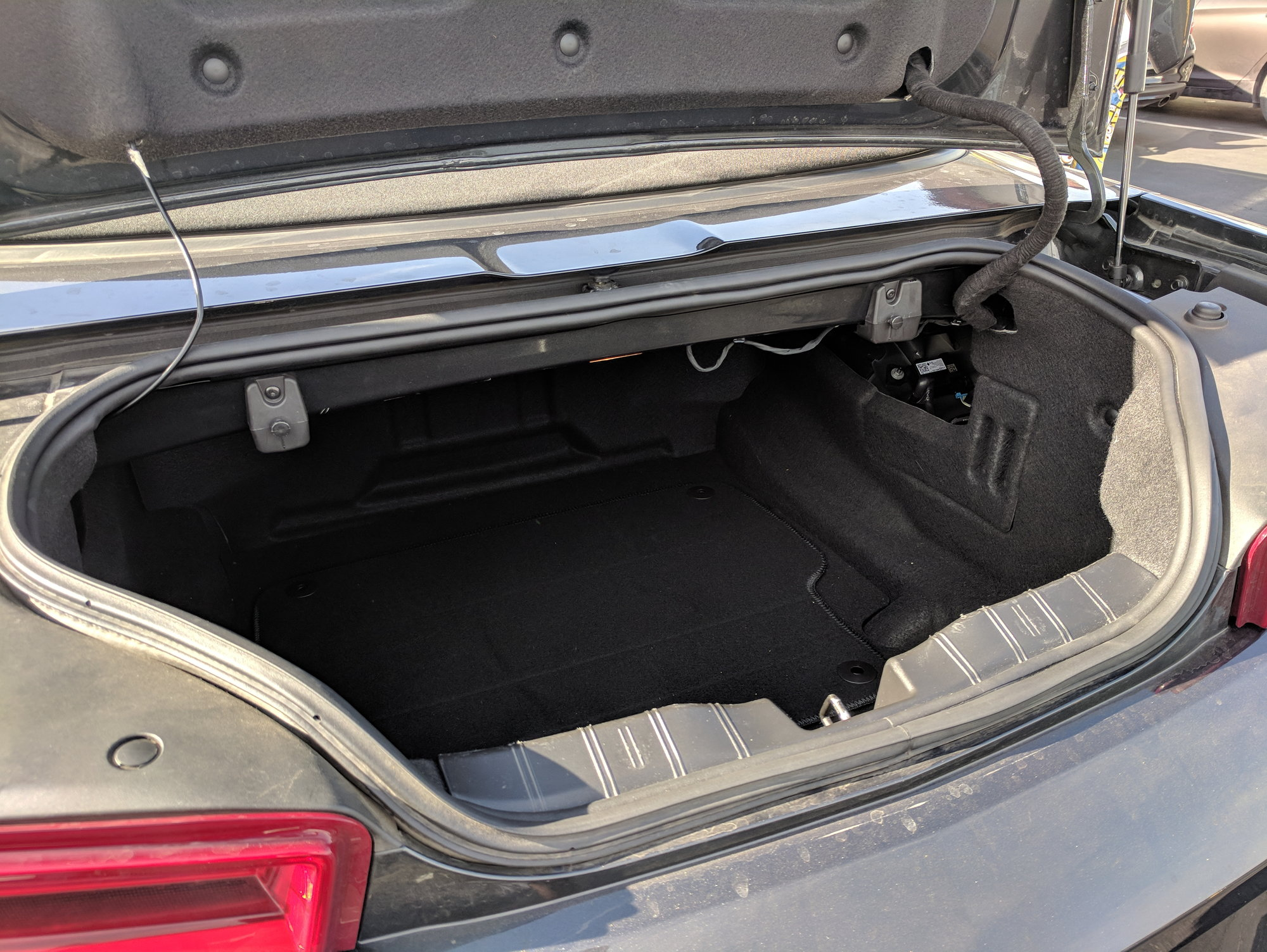 Here Are Some Camaro Convertible Trunk Space Photos