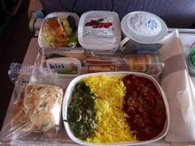 Emirates inflight meal DUS-DXB.