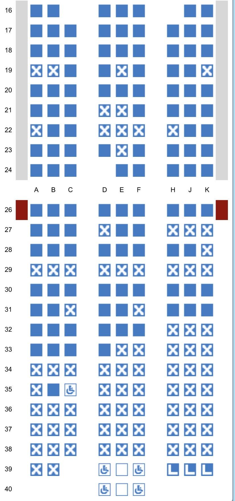 WTP seat map full but 5 avios seats - FlyerTalk Forums