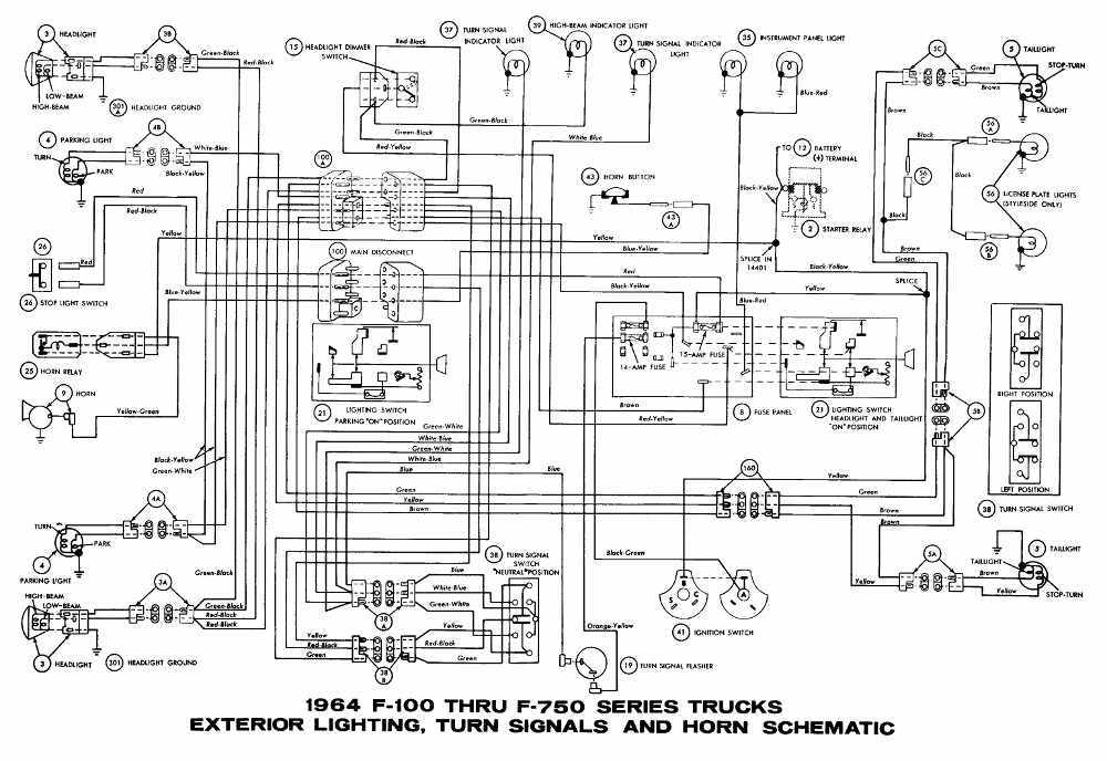 80 interior_light_turn_signals_and_horn_schematic_diagram_of_1964_ford_f100_f750_series_trucks_d54c530057627ab3c2a93755319a7e1b2f0707bb wiring diagram for 1964 ford f100 readingrat net 1964 ford 2000 tractor wiring diagram at bakdesigns.co