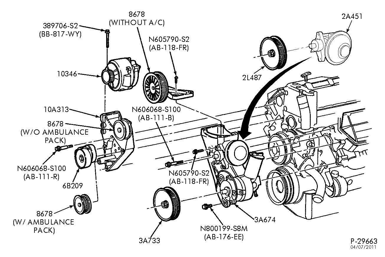 1995 F-350 7 3 Diesel A  C Bracket Removal