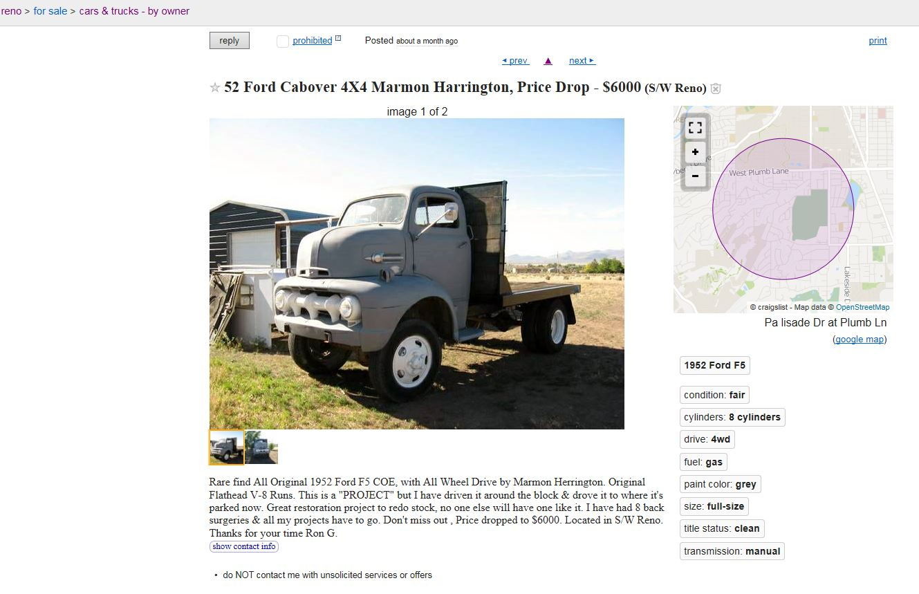 52 Coe Mh Craigslist Ford Truck Enthusiasts Forums