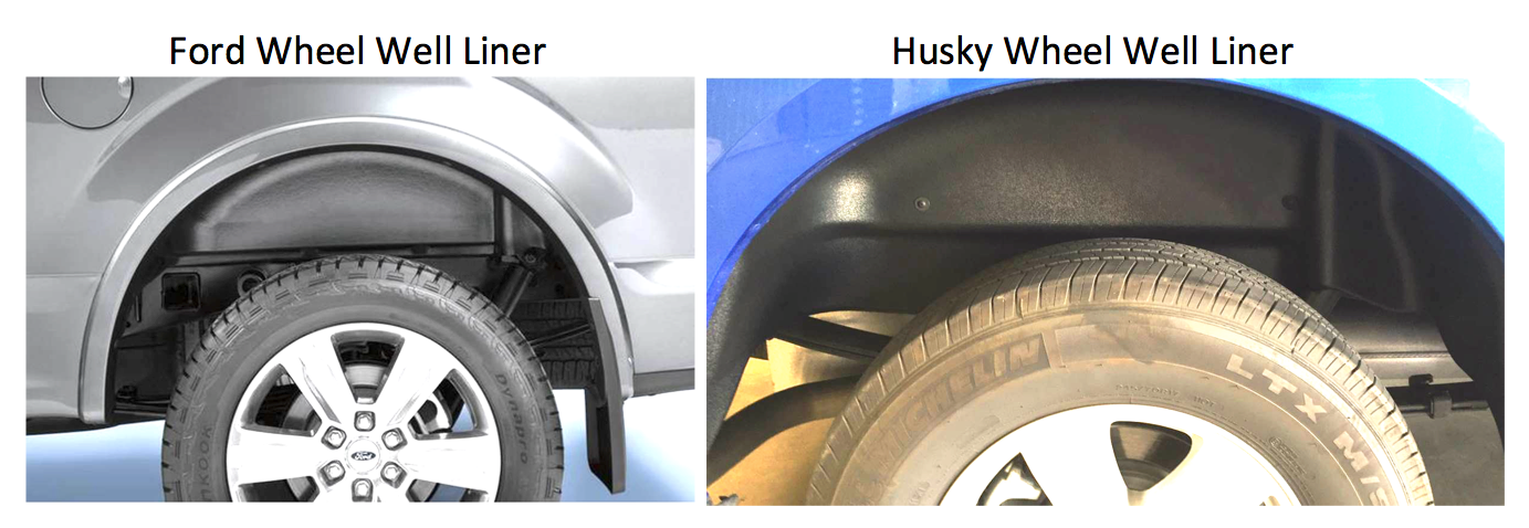 Ford Oem Vs Husky Rear Wheel Well Liners Ford Truck Enthusiasts Forums