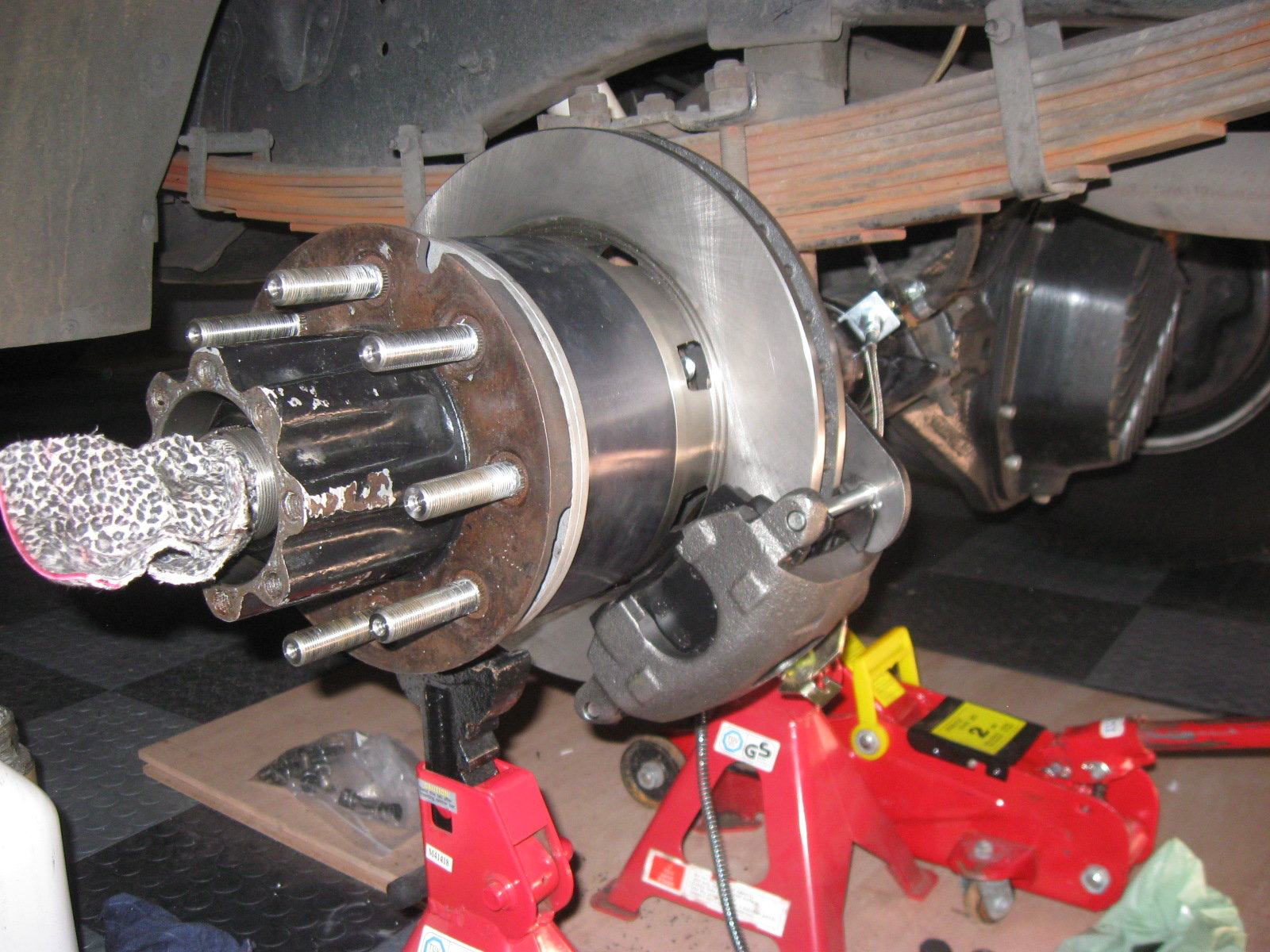 Dana 70 disc brake conversion DUALLY with 16'' steelies