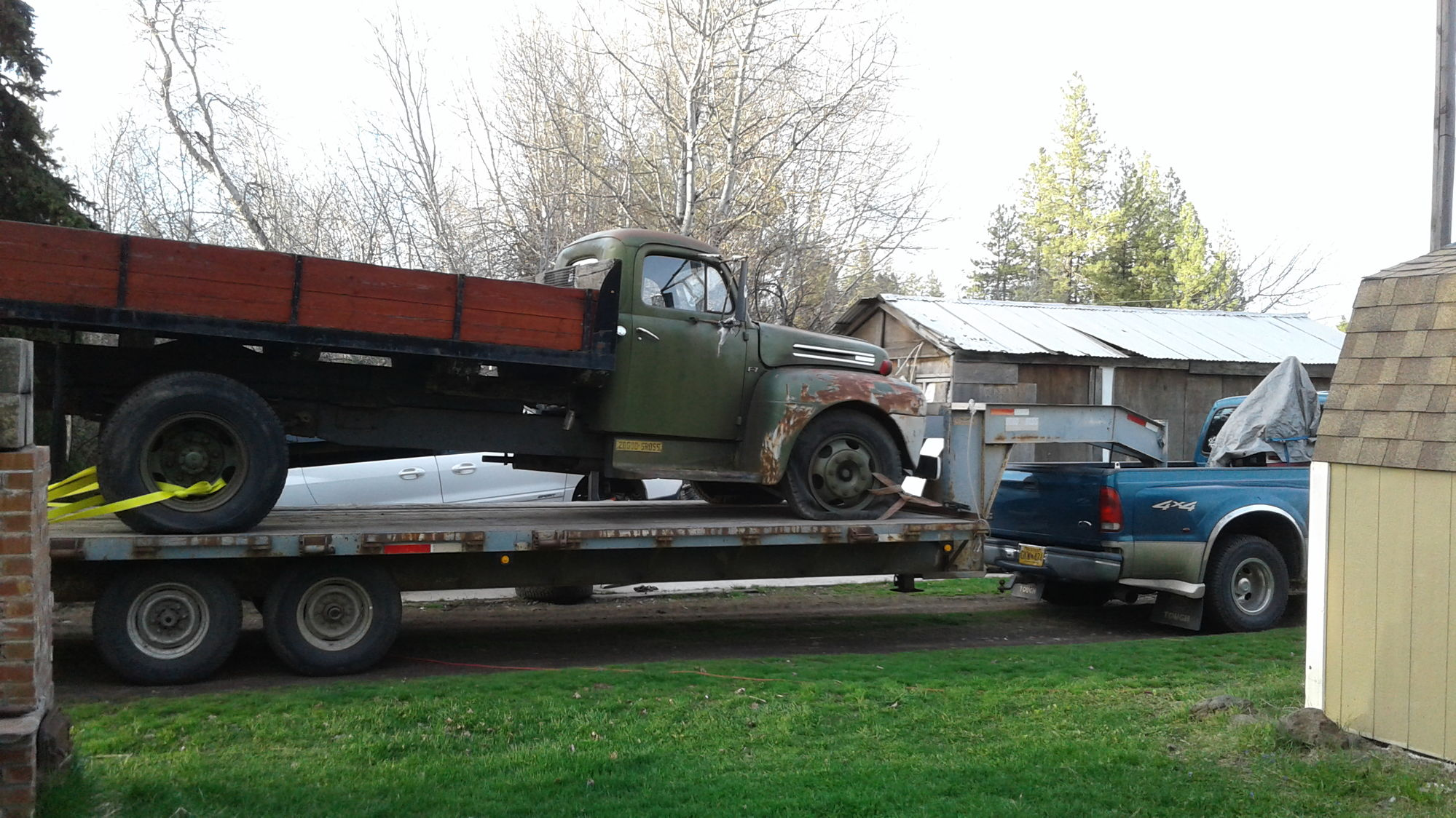 Hey guys sorry if this has been covered already but i couldn t find much by doing a search i just picked up a 1948 ford f7 337 flathead 5 speed