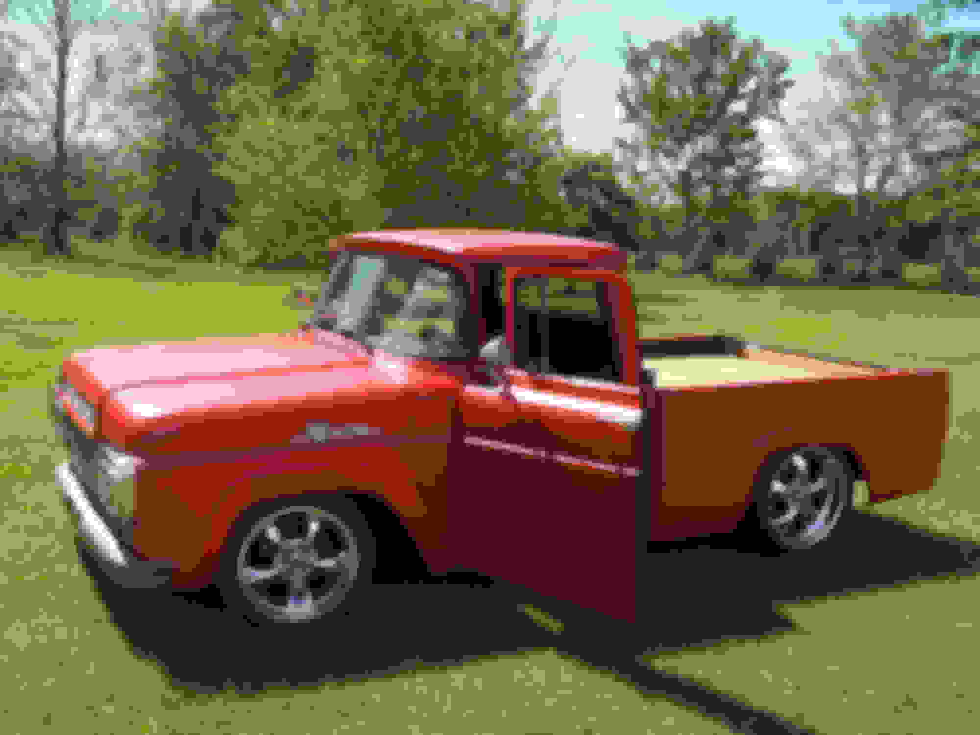 1959 Ford Truck Rat Rod 1954 Chevy Chopped And Bagged Lucky Red Restomod Ratrod Hotrod Lowered Rims Mod Hood Chop Bumper Pancake Classic