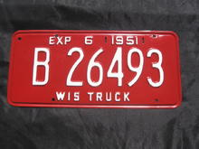 Wis. truck license plates