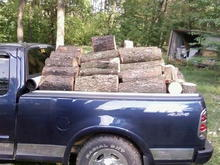Little work with ol reliable.  full load of cherry and maple