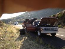 roadside repairs from a bent pushrod...