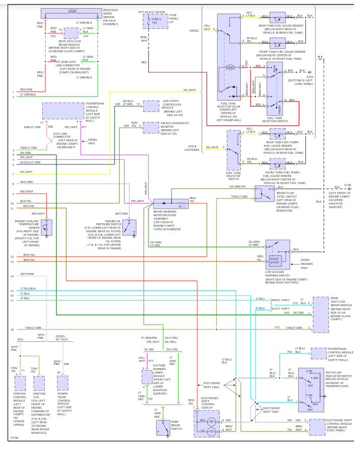 95 F150 4x4 Selector Wiring