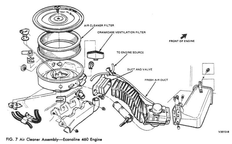 1978 ford 460 carb vacuum diagram