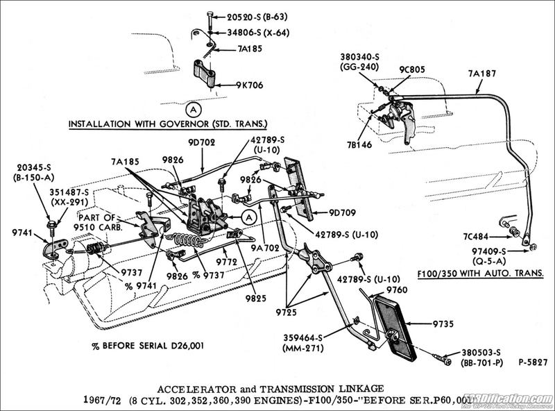 1471506 71 Ford F100 302 Throttle Linkage S on 1964 Ford Truck Wiring Diagram