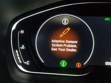 Error message on adaptive damper.