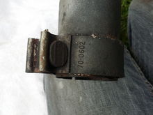 Bloomin clamp. Spot welded in two places onto pipe. Not comming off