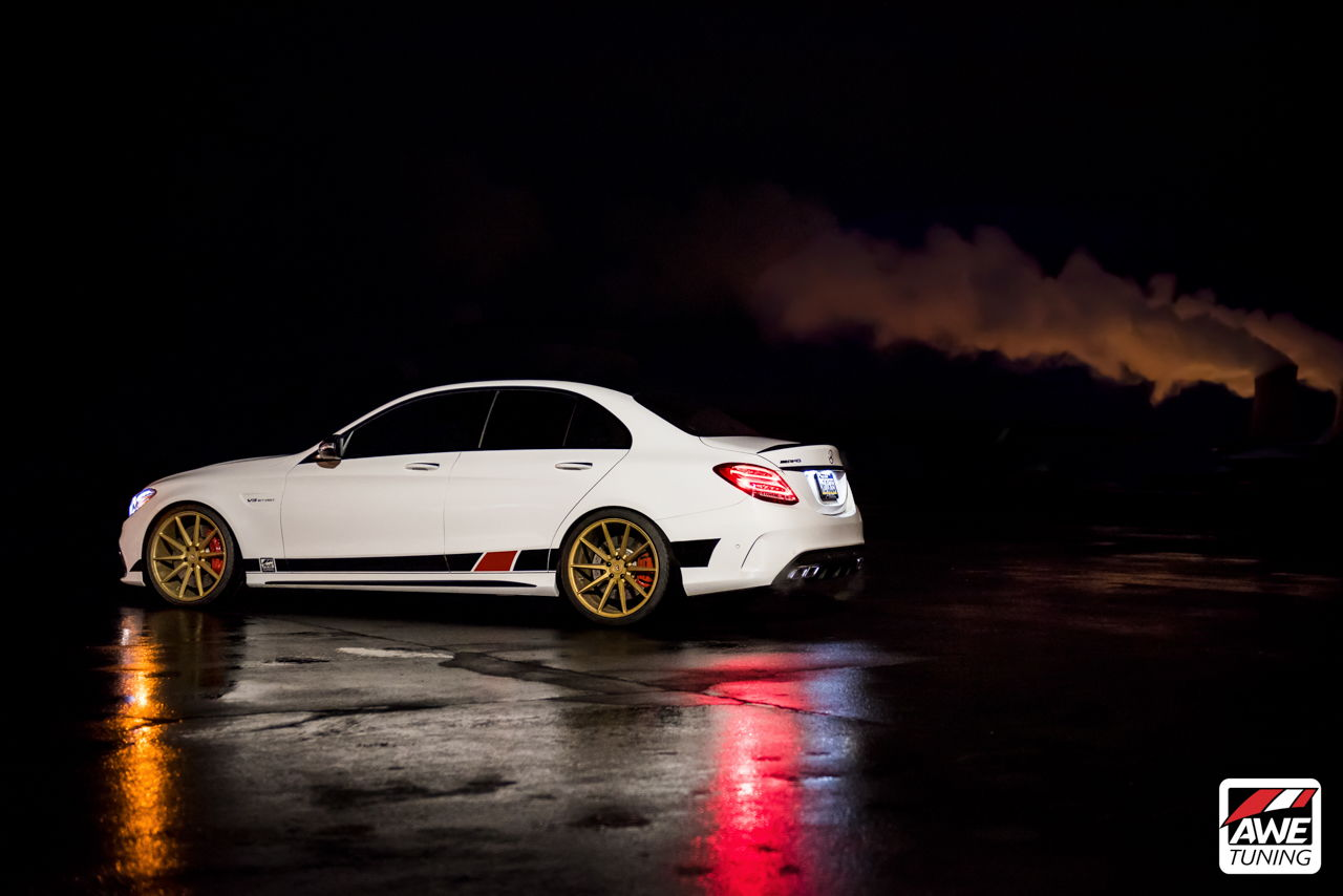introducing the awe tuning w205 amg c63 s exhaust suite. Black Bedroom Furniture Sets. Home Design Ideas