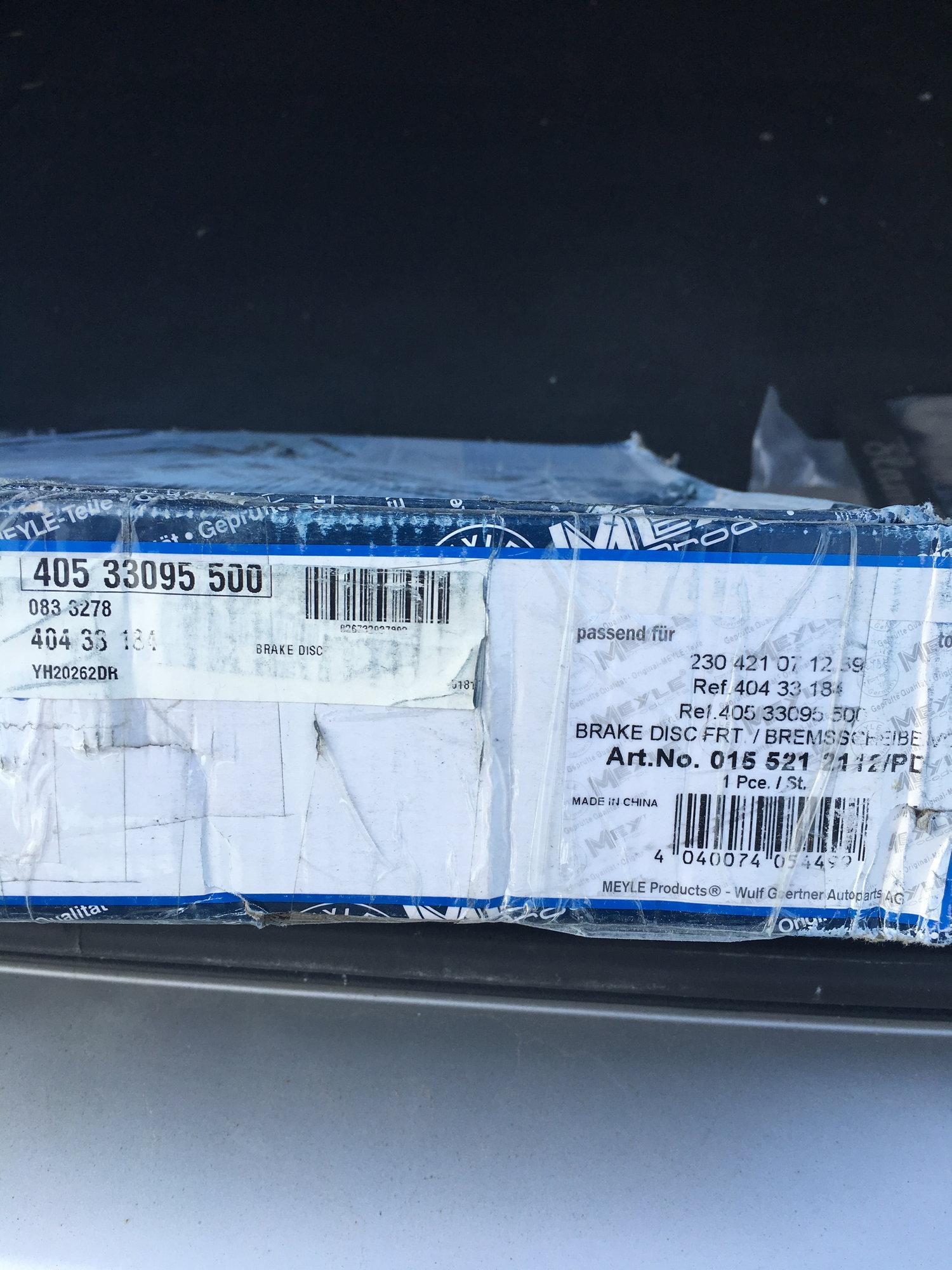 FS: W211 E55 Meyle Rotors and Akebono Pads Brand New