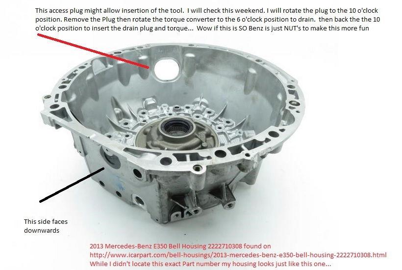 Help transmission oil change torque converter drain for Mercedes benz torque converter