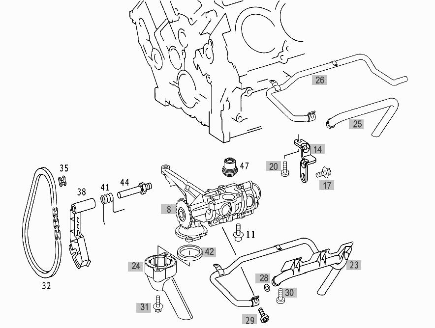 mercedes sl55 engine diagram