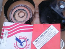 Some goodies going in my 4l60e, alto 3/4 clutch pack,borg warner forward sprag,shift kit