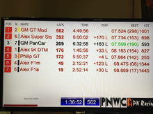 """Some lap times from the current """"bridge"""" layout."""