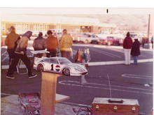 An Associated Porsche at the RAMS club in 1975