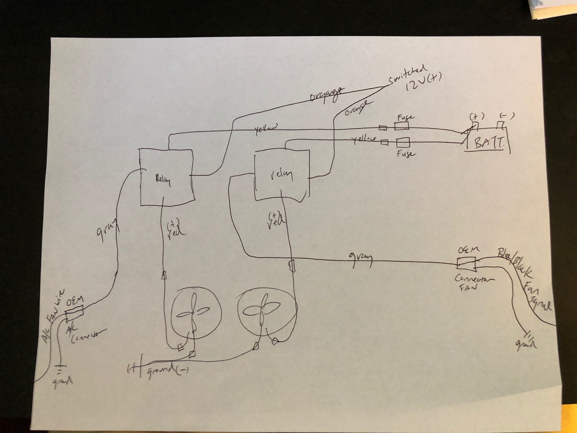 Correct Wiring For Dual Spal Fans With 2 Relays