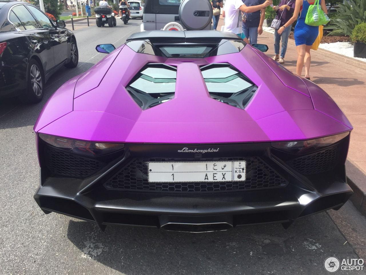 purple lamborghini aventador lp 7204 50th roadster
