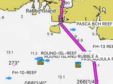 Route from Mary Walker to island.
