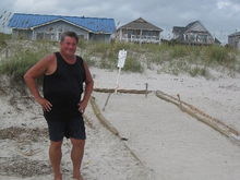 Oak Island, NC protected turtle nest