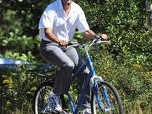 obama bicycle