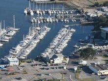 an aerial view of our fair marina