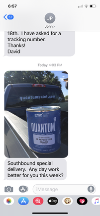 I haven't actually bought anything from Quantum, I have always used awlgrip, but the fact that they sourced special pigment and made a paint just for me to try is really unbelievable. I am really amazed.