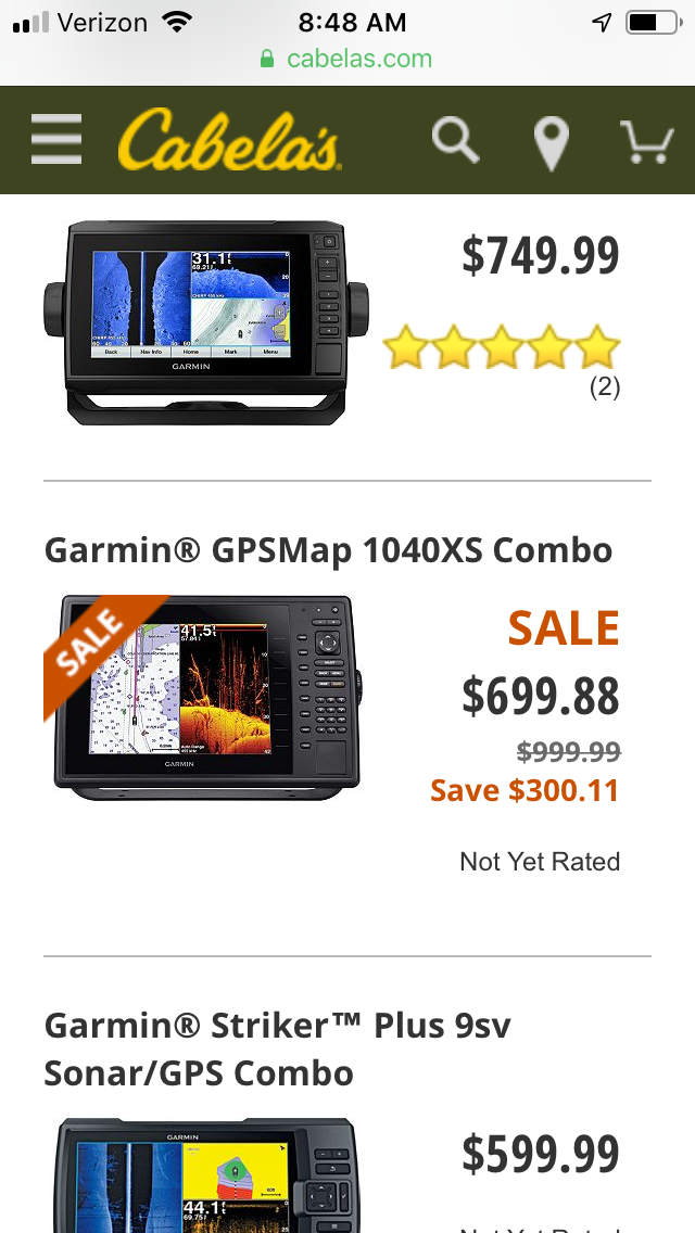 Echomap Plus 93sv w/ GT52 for $599 at Cabelas!!! - The Hull Truth