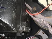 Cables inside passenger side