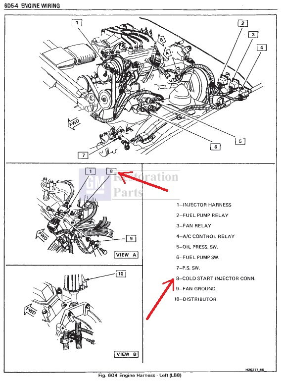 Location of cold start injector - rear of intake - 2 8