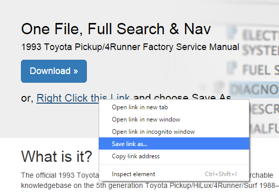 93 Pick Up Factory Service Manual Online Version Yotatech Forums