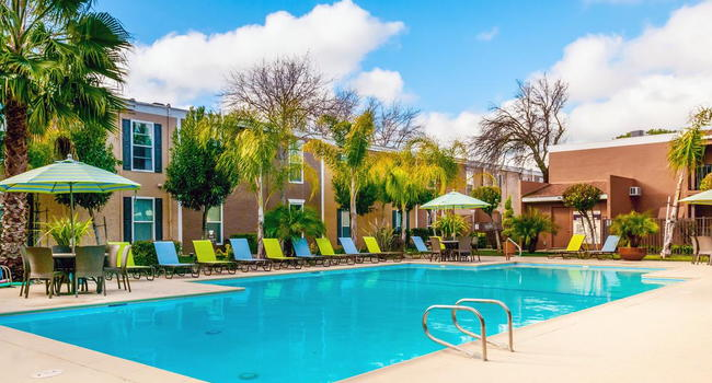Take a dip in our sparkling swimming pool and escape the California sun.